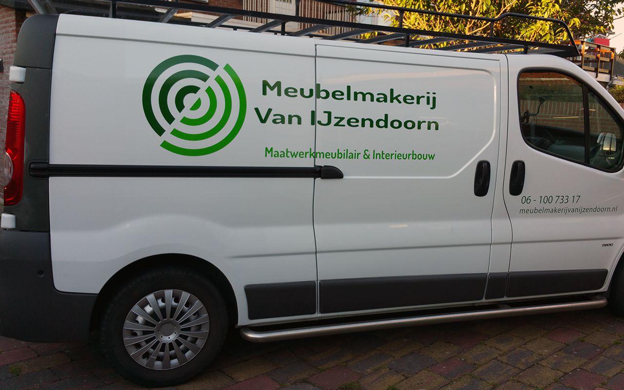 Belettering bedrijfswagen IJzendoorn