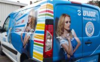 Carwrap met full colour Unior