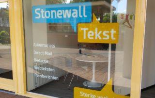 Raambelettering Stonewall Tekst