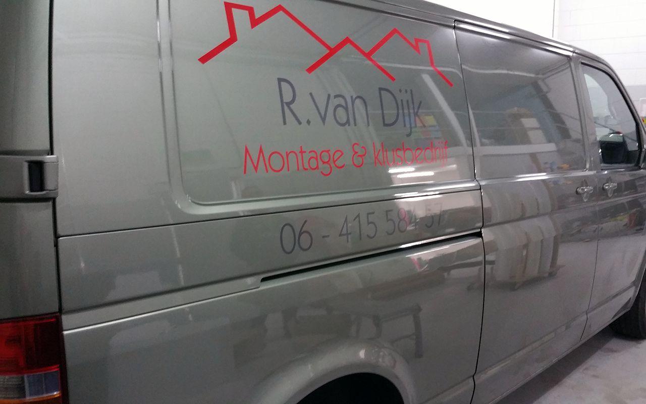 Belettering Bedrijfswagen Van Dijk