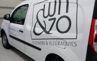 Belettering bedrijfswagen wit&zo