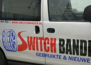 Beletttering bedrijfswagen Switchbanden