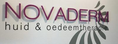 Belettering Novaderm