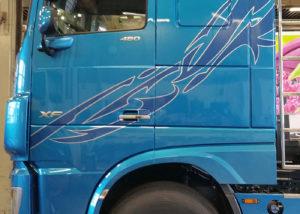 Belettering vrachtwagen Gouwe Metaal
