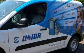 Carwrap bedrijfswagen Unior